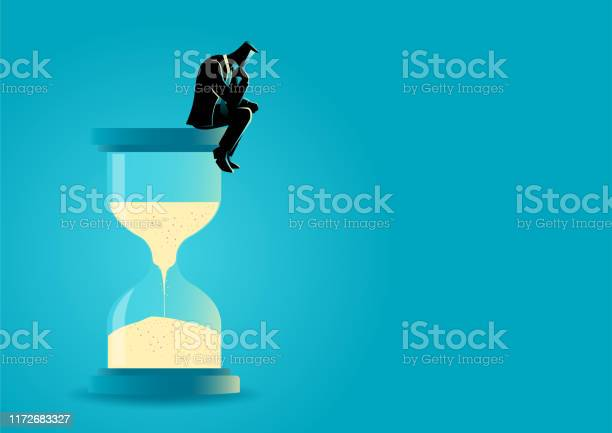 Businessman sitting and thinking on hourglass vector id1172683327?b=1&k=6&m=1172683327&s=612x612&h=y94i 2vya6bxyi9jztk1 izz8kctmn3monuxmj30ckq=