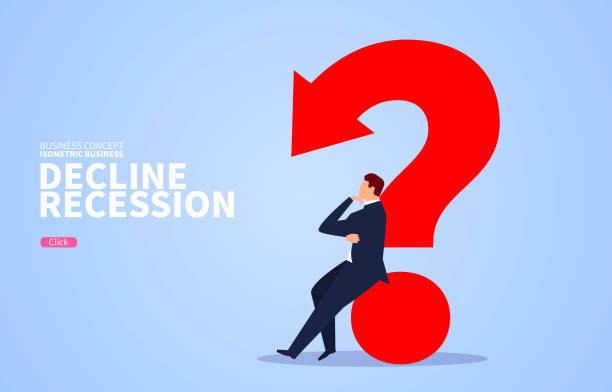 Businessman sitting on fallen arrow question mark thinking Businessman sitting on fallen arrow question mark thinking z_wei stock illustrations