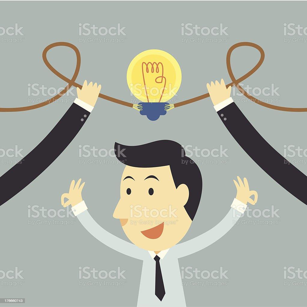 Businessman spark idea up royalty-free businessman spark idea up stock vector art & more images of achievement