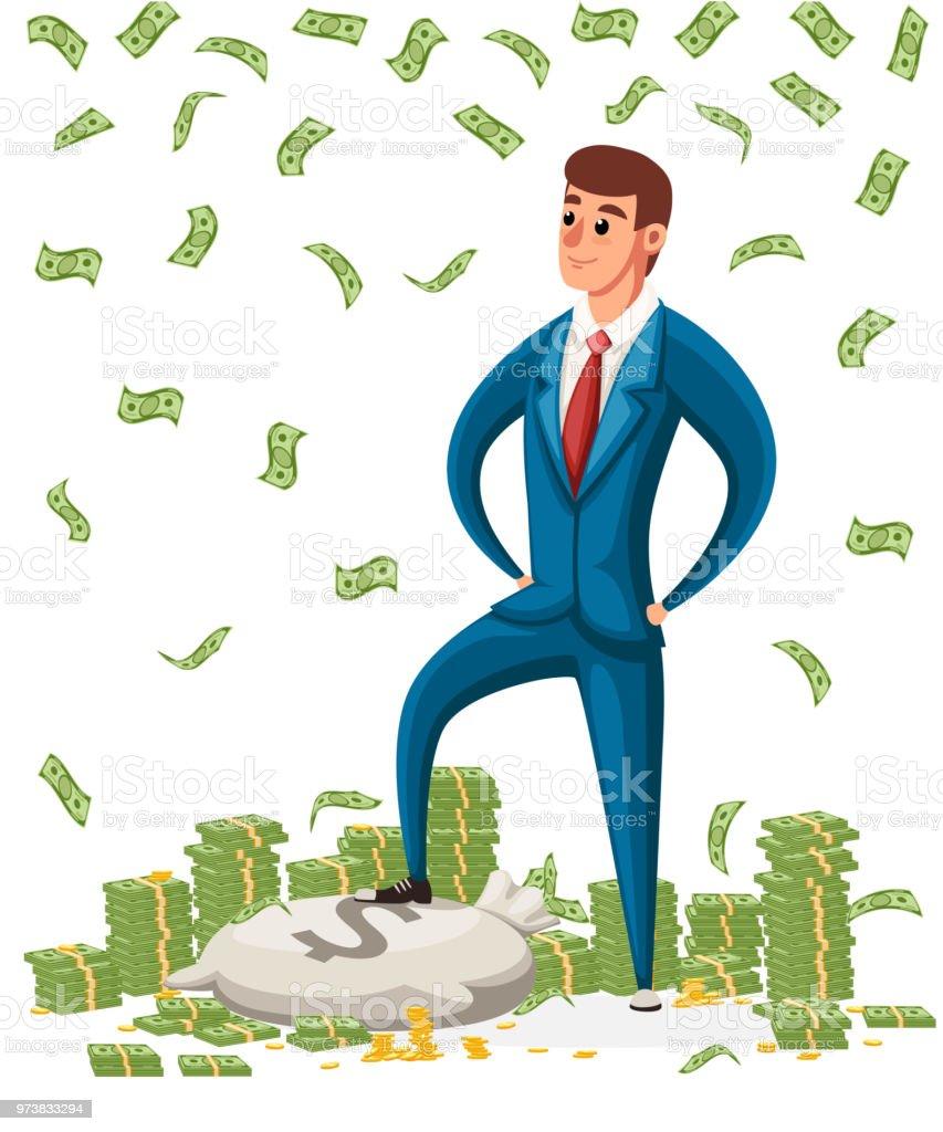 Is Adami Kursuye Bir Tomar Para Para Yagmur Altinda Duran Bir Is