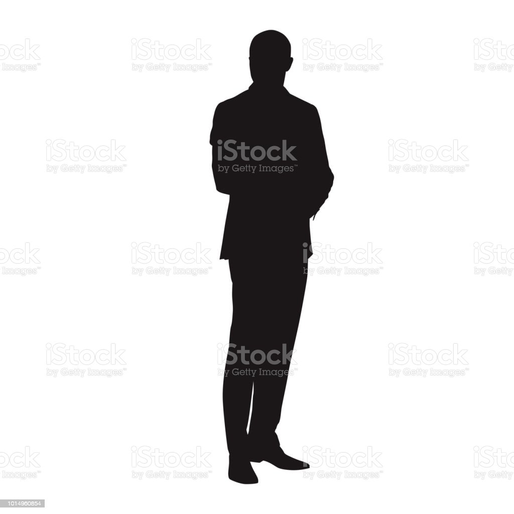 standing businessman silhouette cartoon royalty free - HD1024×1024