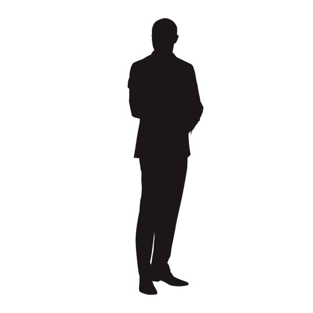 mypuzzledesign business man standing silhouette in - 612×612
