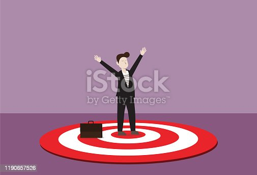 Aiming, Aspirations, Achievement, Business, Bull's-Eye, Hit ,Success, Leadership