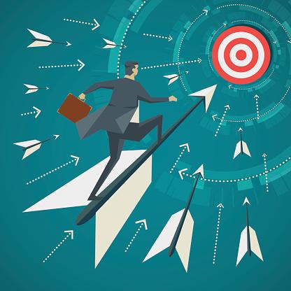 Business goal stock illustrations