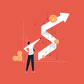 istock businessman standing with successful growth chart after corona effect, business growth after recession 1216628692