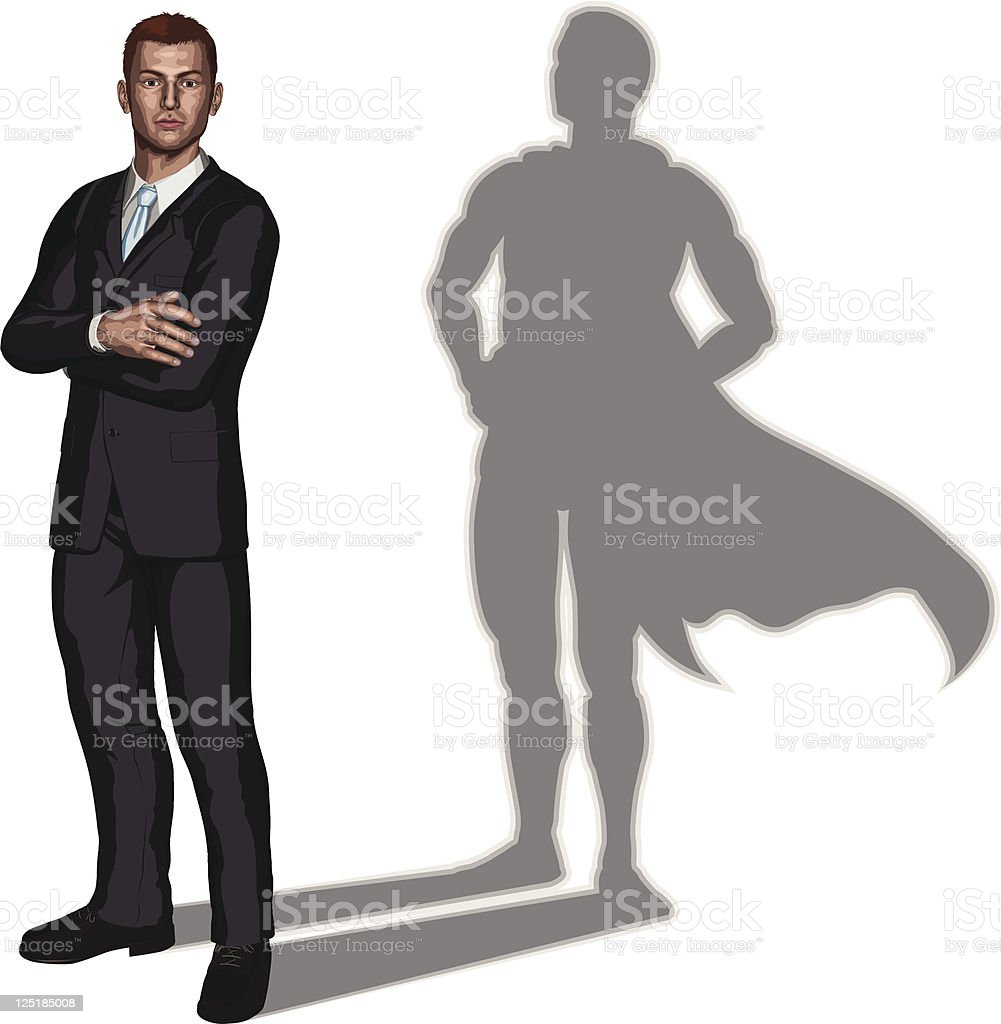 Businessman superhero concept vector art illustration