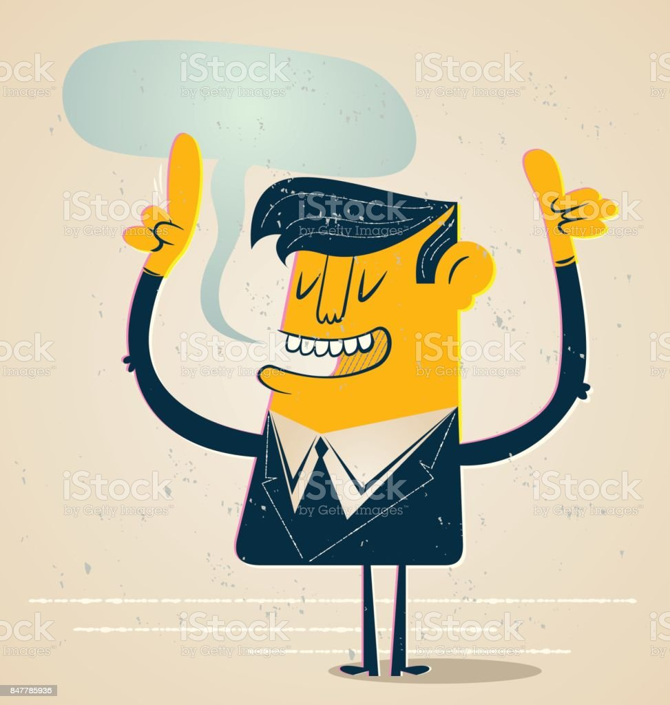 Businessman Talking vector art illustration
