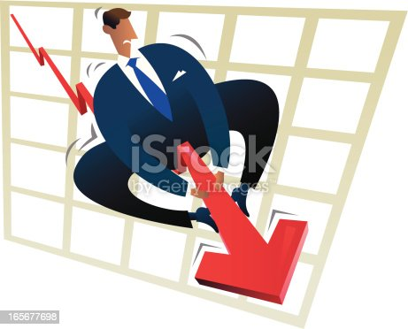 A vector image naif style representative of the financial problems.