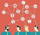 Business Seminar Team Work Concept