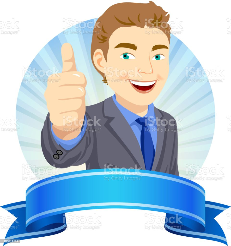Businessman Thumbs Up royalty-free stock vector art