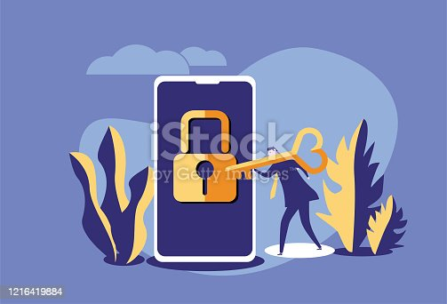 Mobile Phone,Smart Phone, Key,Lock,Padlock,Password, Unlocking,