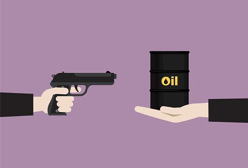 Businessman uses a gun rob crude oil