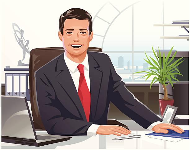 남자 사업가 - 단정한 사무복 stock illustrations