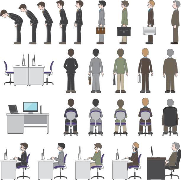 ビジネスマン - オフィスワーク点のイラスト素材/クリップアート素材/マンガ素材/アイコン素材
