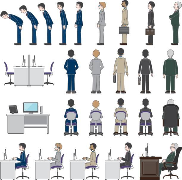 ビジネスマン - オペレーター 日本人点のイラスト素材/クリップアート素材/マンガ素材/アイコン素材