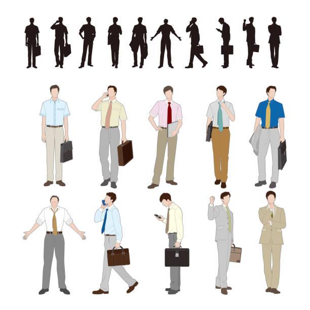 ビジネスマン - ビジネスマン 日本人点のイラスト素材/クリップアート素材/マンガ素材/アイコン素材