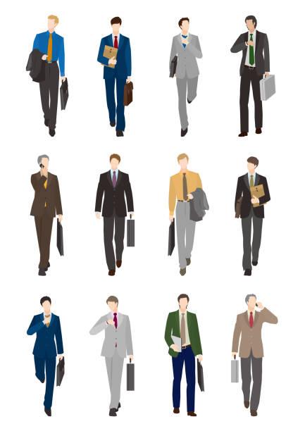 ビジネスマン - 通勤点のイラスト素材/クリップアート素材/マンガ素材/アイコン素材