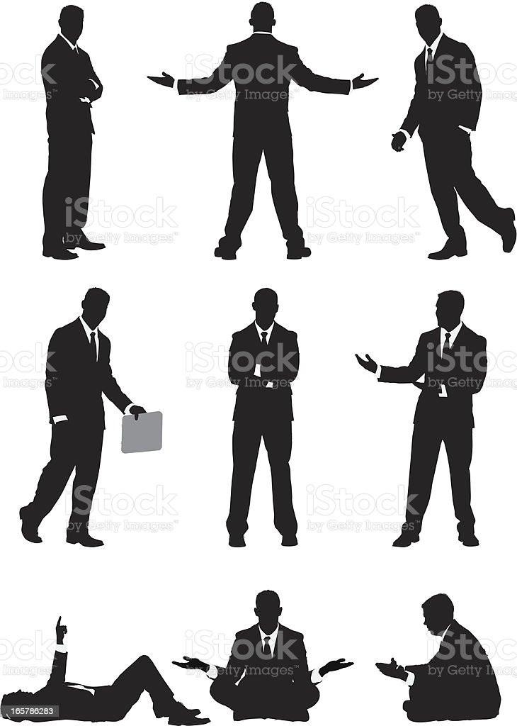 Businessman vector illustrations vector art illustration