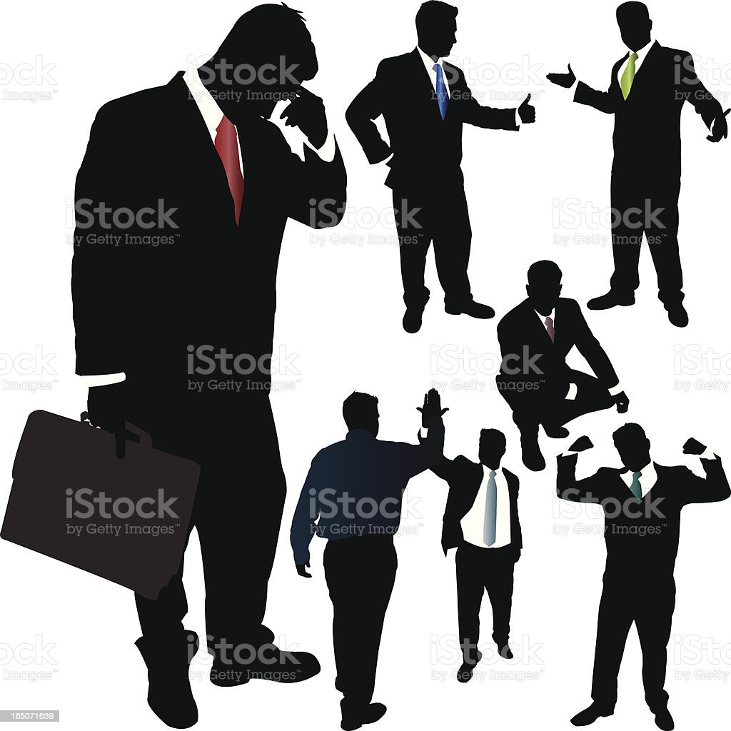 Businessman Vector Silhouette Series royalty-free businessman vector silhouette series stock vector art & more images of achievement
