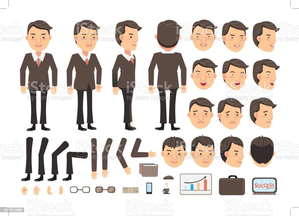 Businessman Vector vector art illustration