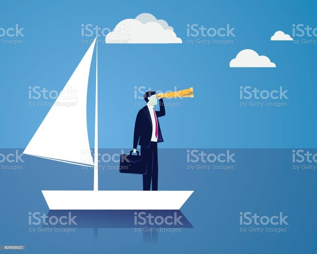 Businessman Vision Concept vector art illustration