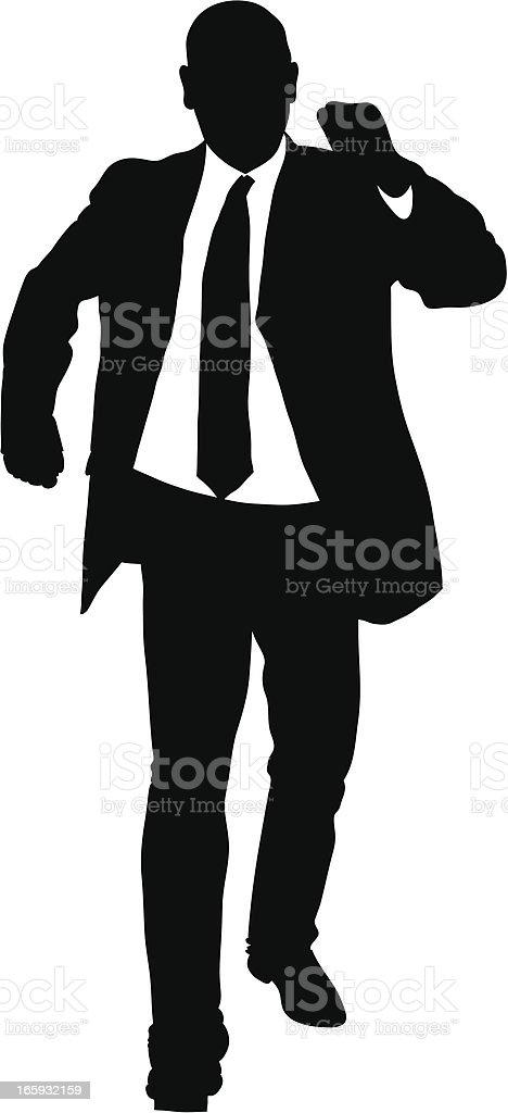 Businessman Walking royalty-free stock vector art