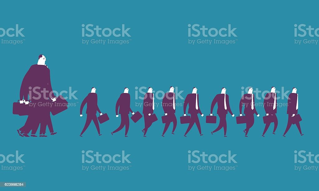 Businessman Walking vector art illustration