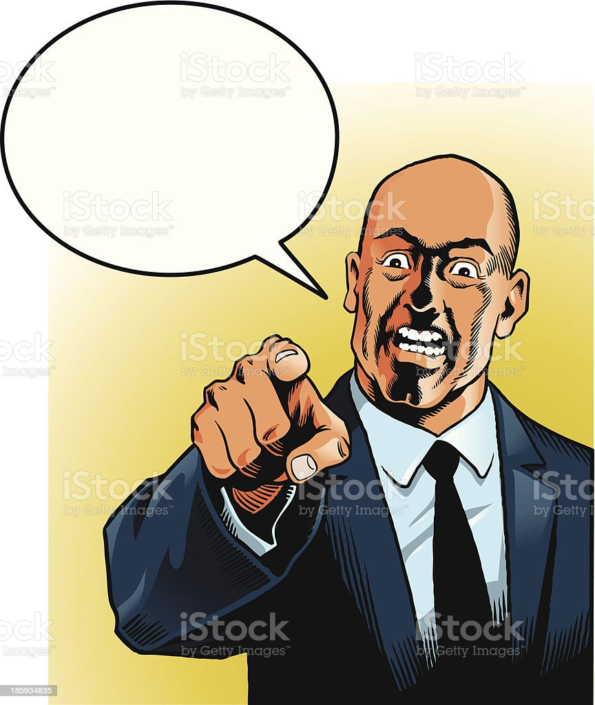 Businessman Wants You royalty-free stock vector art