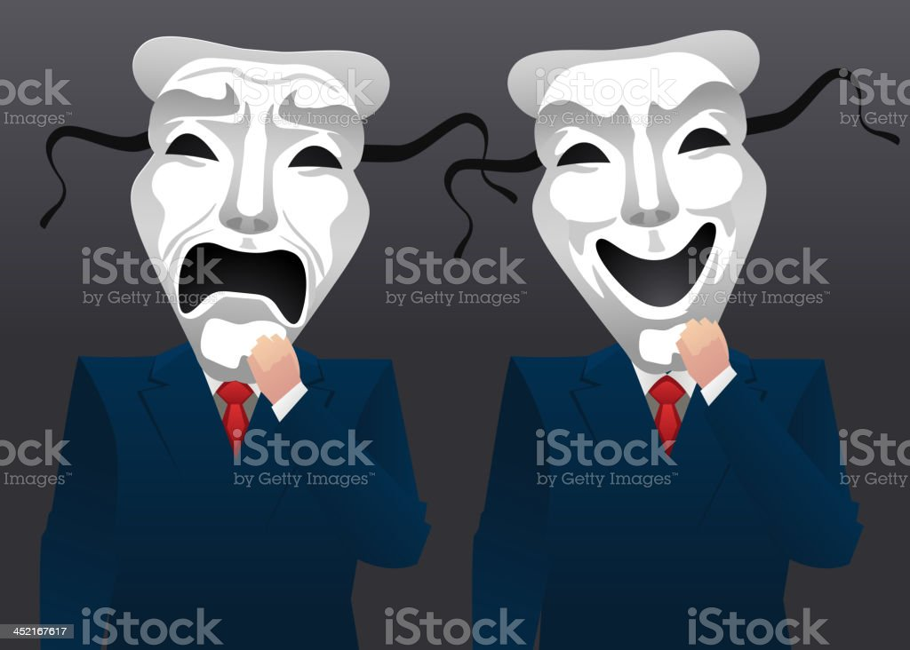 Businessman wearing theater mask royalty-free businessman wearing theater mask stock vector art & more images of art and craft