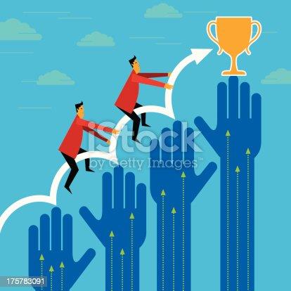 businessman winner - Breakthrough concept