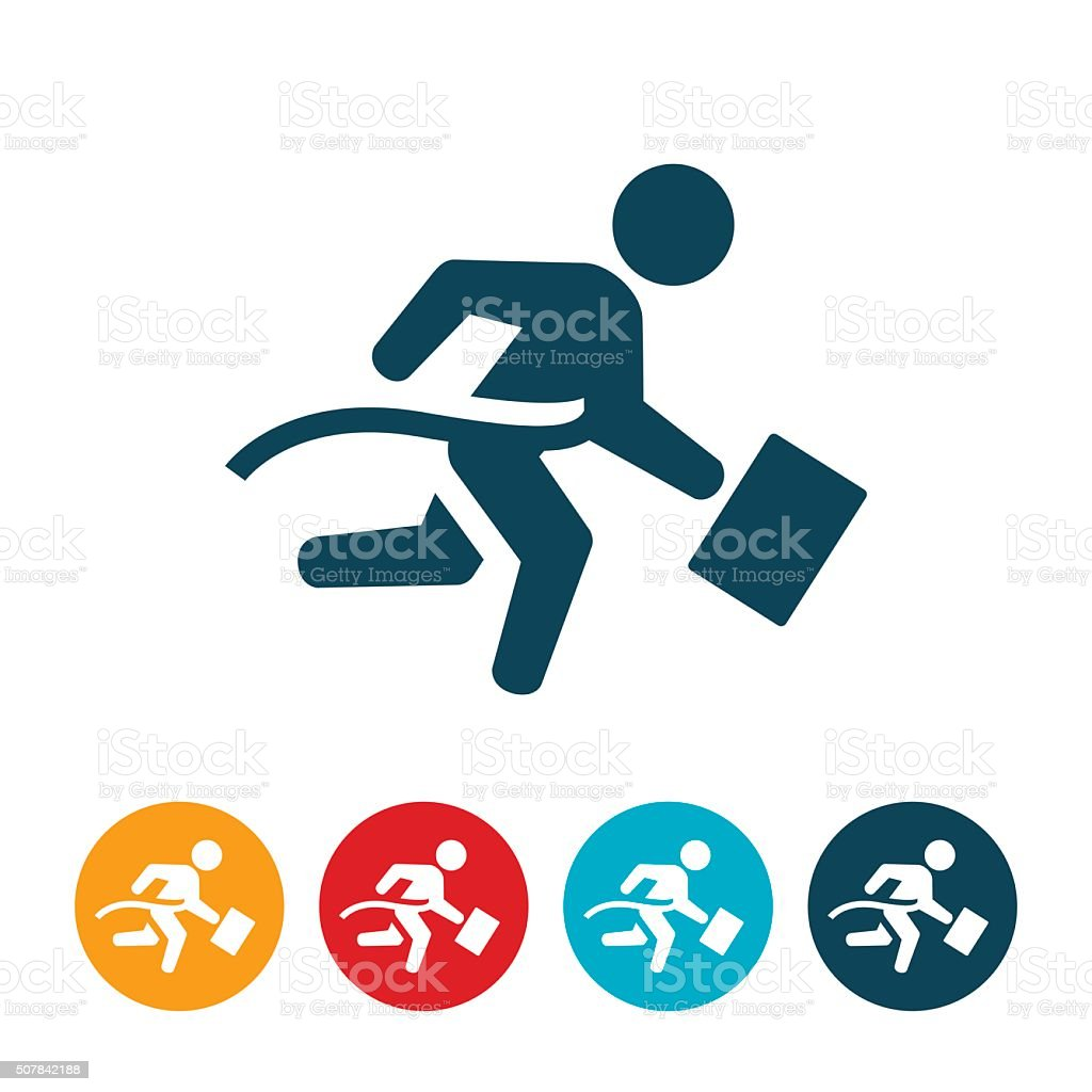 Businessman Winning Race vector art illustration