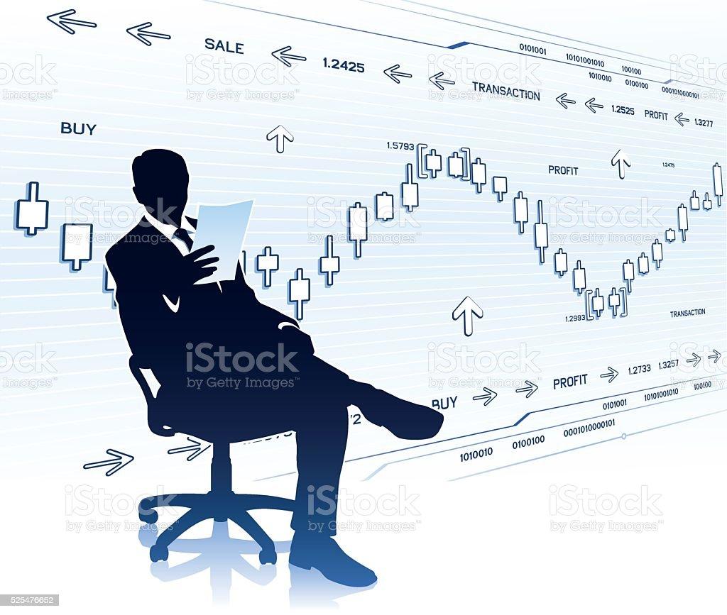 ビジネスマンに文書化する ベクターアートイラスト