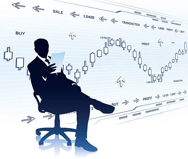 ビジネスマンに文書化する - 株式仲買人点のイラスト素材/クリップアート素材/マンガ素材/アイコン素材