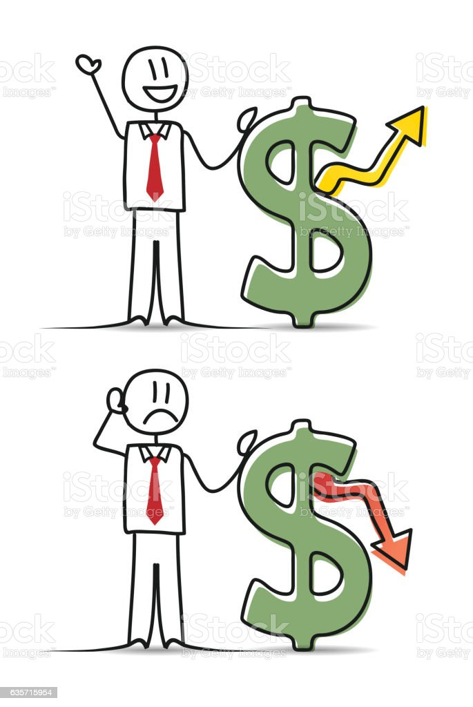 Businessman with Dollar Signs royalty-free businessman with dollar signs stock vector art & more images of adult