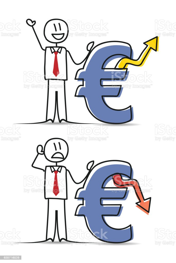 Businessman with Euro Signs royalty-free businessman with euro signs stock vector art & more images of adult