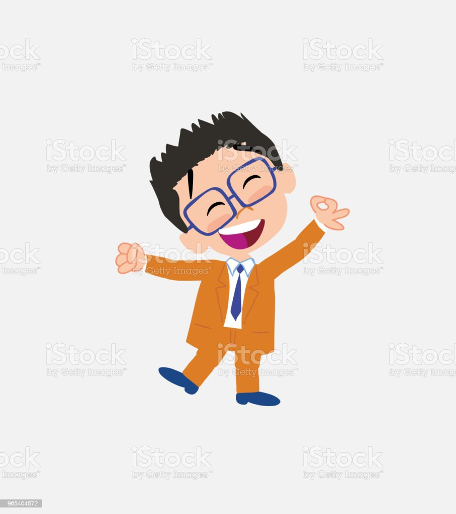 Businessman with glasses exulting in happiness royalty-free businessman with glasses exulting in happiness stock vector art & more images of adult