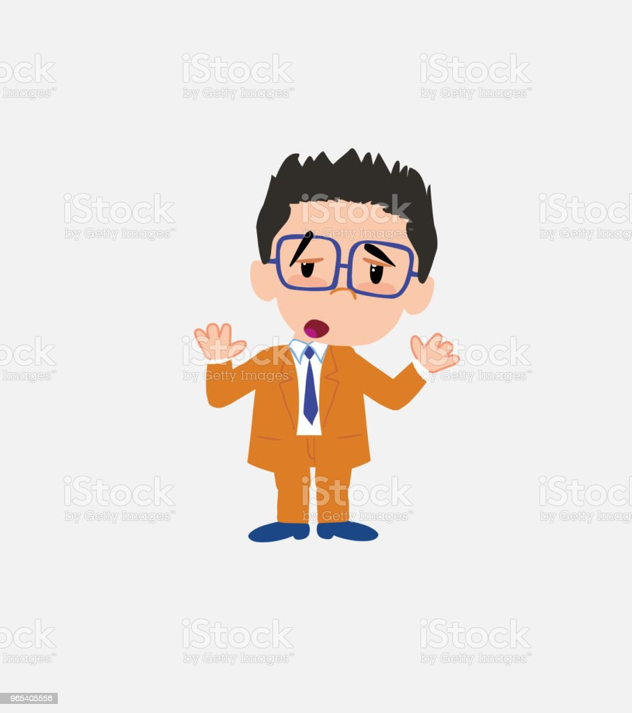 Businessman with glasses makes a gesture of tired resignation. royalty-free businessman with glasses makes a gesture of tired resignation stock vector art & more images of adult