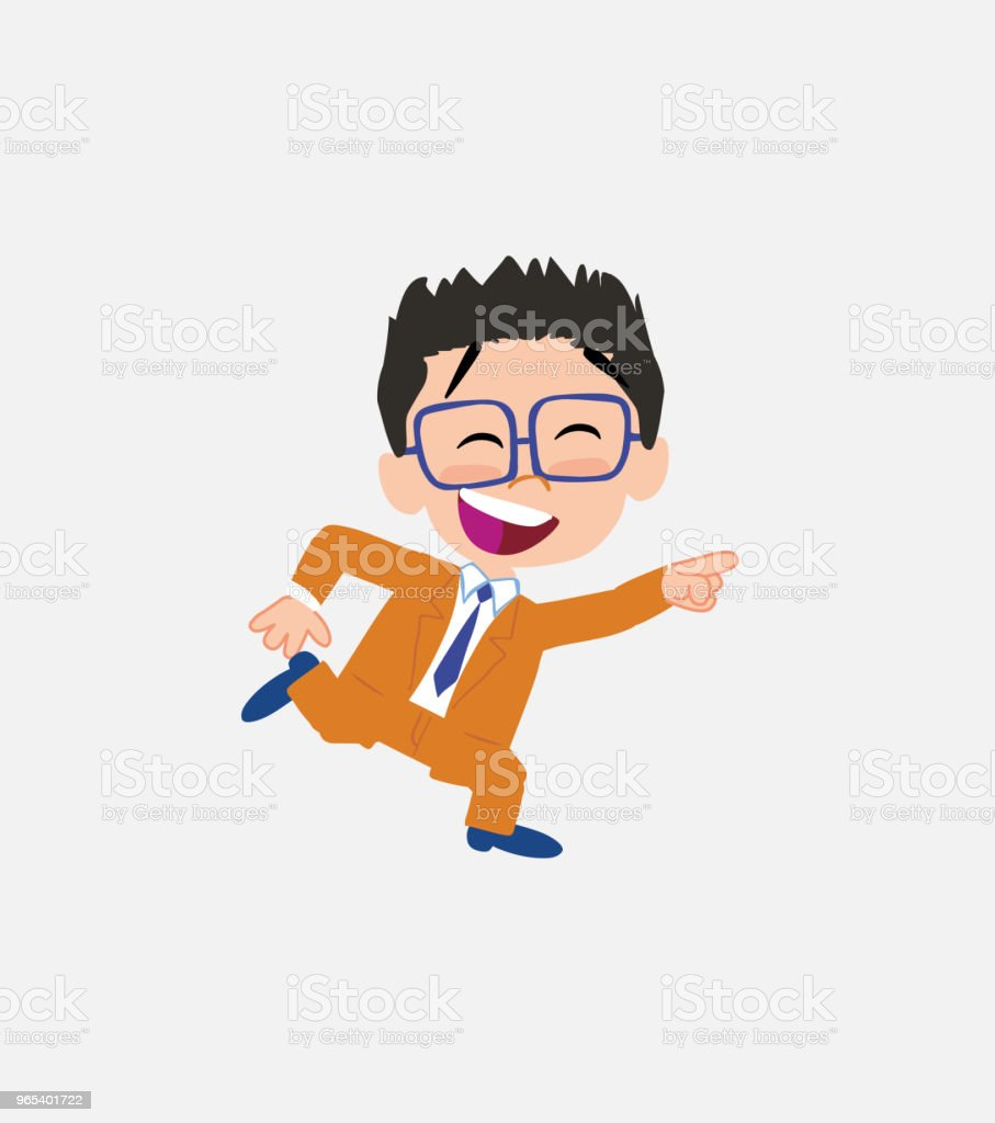 Businessman with glasses running smiling. royalty-free businessman with glasses running smiling stock vector art & more images of adult