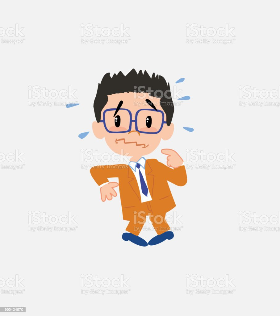 Businessman with glasses , scared. royalty-free businessman with glasses scared stock vector art & more images of adult