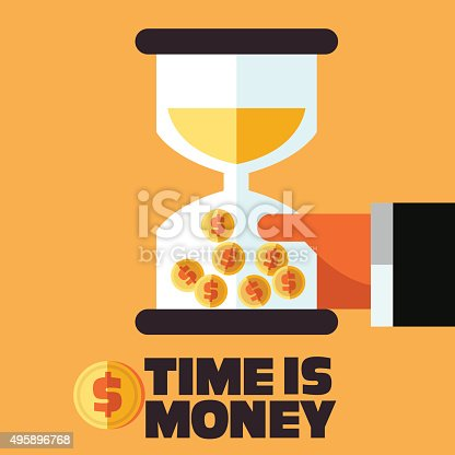 614338352istockphoto Businessman with hourglass in hand. Time is money concept 495896768