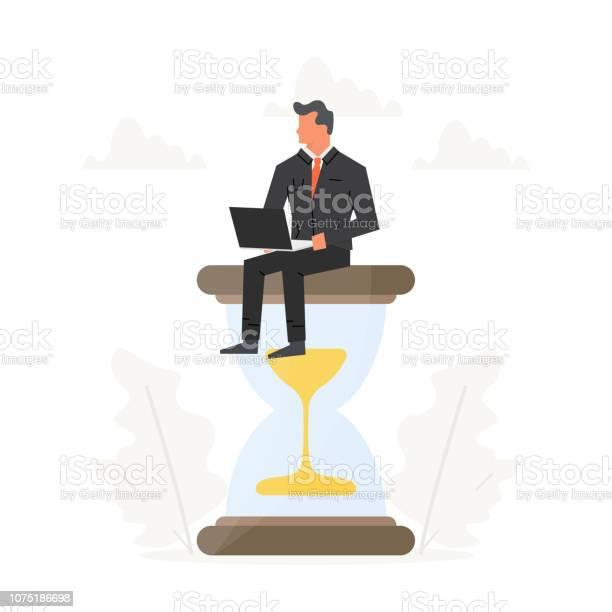 Businessman with laptop sits on a big hourglass success champion vector id1075186698?b=1&k=6&m=1075186698&s=612x612&h=yq6tf9ug6cxsrvw z xhwdodlb2ho7azfu93dzyeucm=