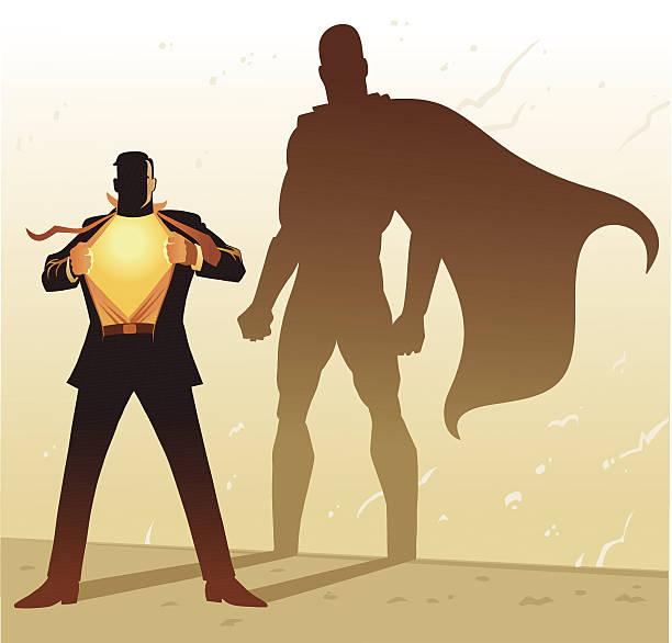 illustrations, cliparts, dessins animés et icônes de homme d'affaires de super-héros de l'ombre - modèles de bande dessinée