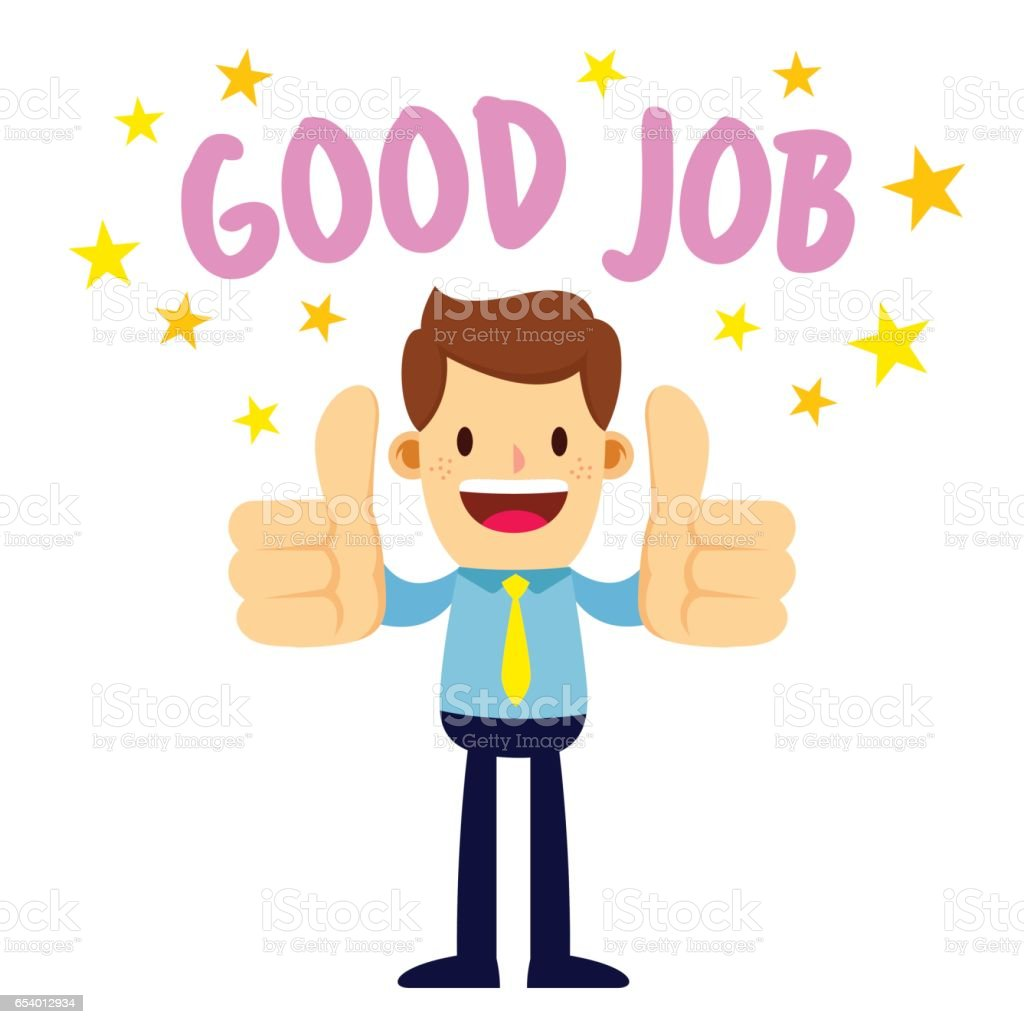 businessman with two thumbs up saying good job stock vector art rh istockphoto com good job clipart free good job clipart black and white