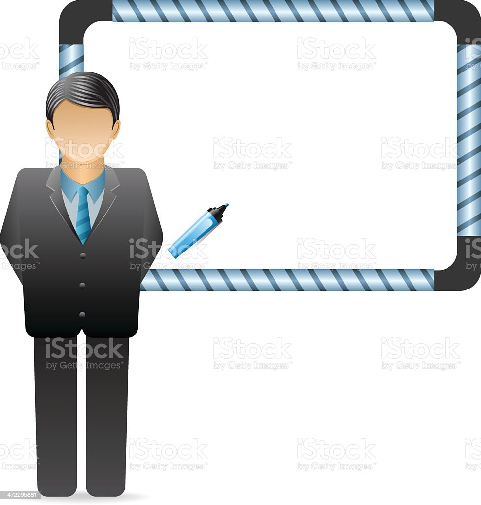 Businessman with Whiteboard royalty-free stock vector art