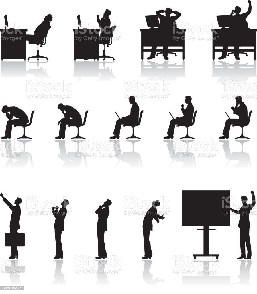 Businessman / Work royalty-free businessman work stock illustration - download image now