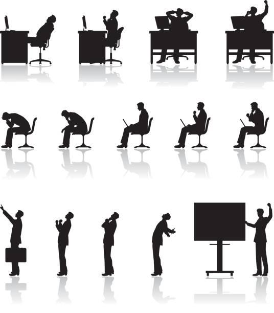 Businessman / Work vector art illustration