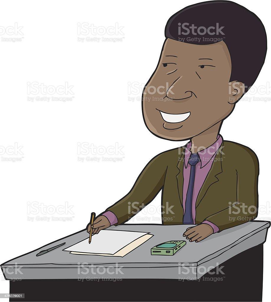 Businessman Writing royalty-free stock vector art