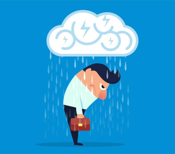 ilustrações de stock, clip art, desenhos animados e ícones de businessman's brain is put into countless bombs - deceção