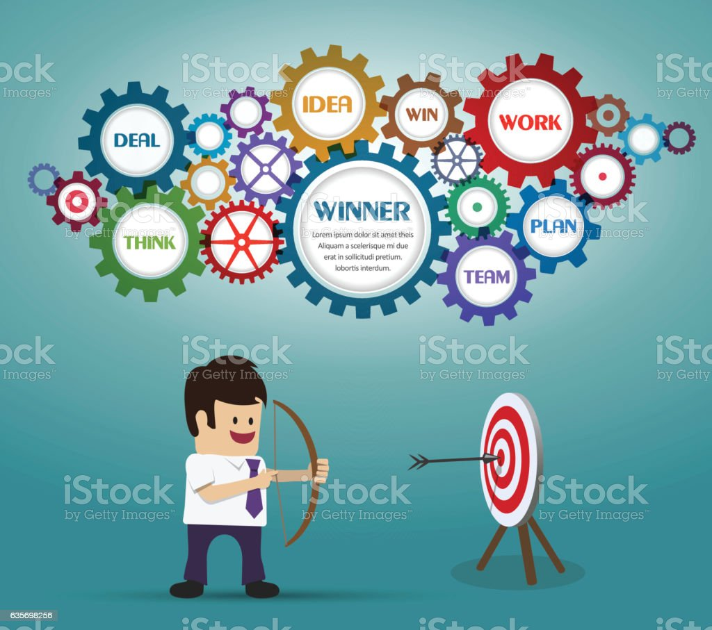 Businessmans hit the target royalty-free businessmans hit the target stock vector art & more images of achievement