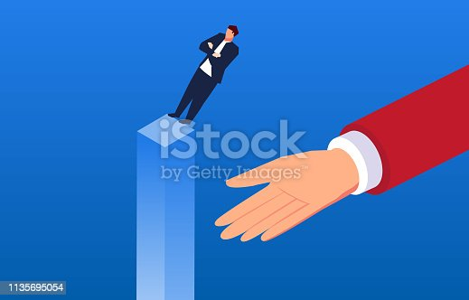 Businessman's mutual trust